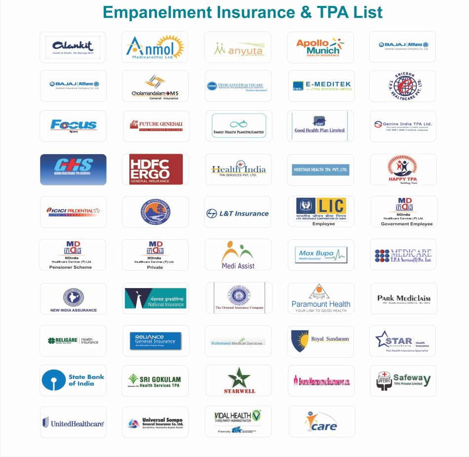 Empanelment Health Insurance & TPA List
