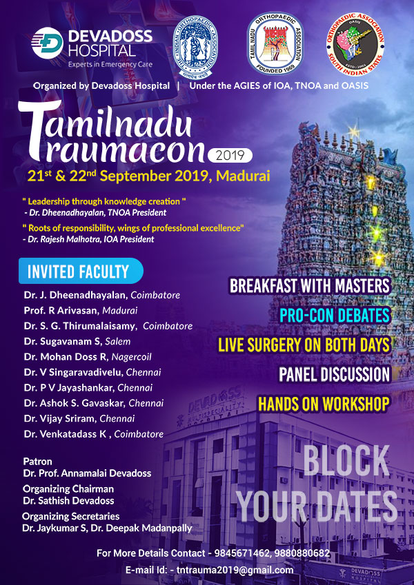 Tamilnadu Traumacon 2019 in madurai
